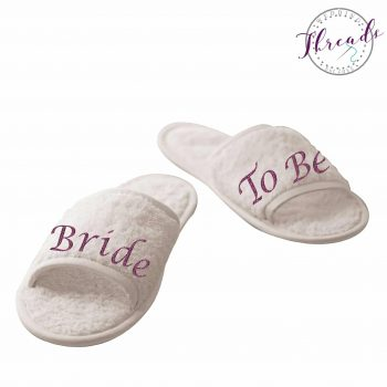 Personalised Bride to Be slippers